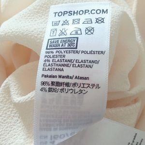 Topshop Tops - Topshop Ecru Cold Shoulder Blouse Size 4